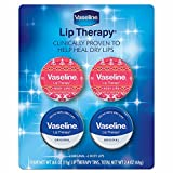 Vaseline Winter Lip Therapy, 4 pk./0.6 oz. 2 x rosy lip 2 x original