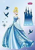 Komar - Disney - Deco-Sticker PRINCESS DREAM - 50x70cm - Wandtattoo, Wandsticker, Wandaufkleber, Wandbild, Prinzessin, Aschenputtel, Schloss -14016h