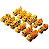 Party Propz Engineering Construction Vehicles Toys For Kids Set Of 12 Pcs