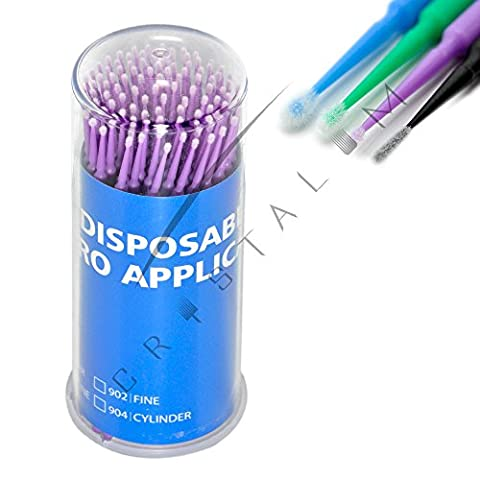 Disposable Eyelash Extensions Micro brushes Microblading Tattoo Swab CRYSTALUM 4 Types (Ultra Fine)