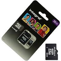 Acce2S - CARTE MEMOIRE 32 GO pour ALCATEL OT 995 MICRO SD HC + ADAPT SD integral
