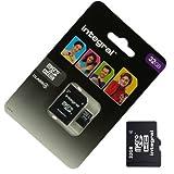 Acce2S - CARTE MEMOIRE 32 GO pour HTC ONE M8 MICRO SD HC + ADAPT SD integral