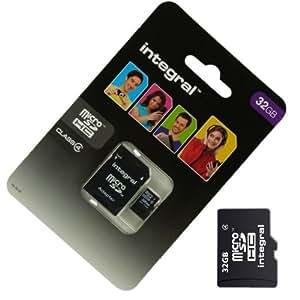 Acce2S - CARTE MEMOIRE 32 GO pour LG LEON H340N 4G MICRO SD HC + ADAPT SD integral