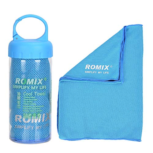 YouFia Mikrofaser-Handtuch, Kühlhandtuch Reisehandtuch Fitness- und Sporthandtuch eiskalt, saugfähig, schnelltrocknend, streichelweich 30 x 90 cm (Blau) -