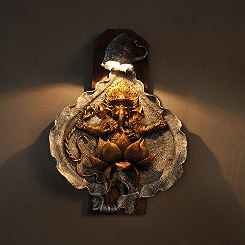 BOOTU LED Wandleuchte nach oben und unten Wandleuchten Asiatische Möbel im Wohnzimmer Wand Lampen Wandleuchten Elephant Trunk im Wohnzimmer des Hotels 104268, A: Lotus flower Pattern -