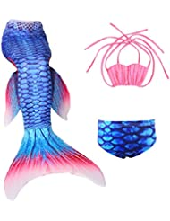 Le SSara Filles Shark Cosplay Costume pour le bain sirène Shell maillot de bain ensembles