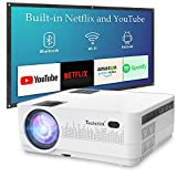 Techstick Video Projector HD Portable Projector LCD Mini Projector, 2019 Upgraded, Supports 1080P