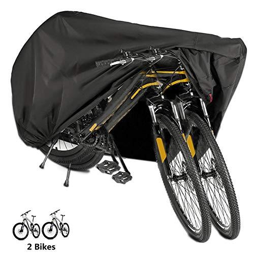 Funda Bicicleta, EMIUP Nylón 190T Anti Polvo Resistente al Agua a Prueba de UV Cubierta Bicicleta para Bicicleta de Montaña y Bicicleta de Carretera (Negro)
