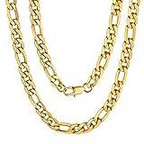 Gold Chain Design per Gli Uomini Catena d'oro 18k Gold Placcato Figaro Cordolo Catena Collana 18''