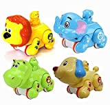#10: Siddhi Vinayak Colourful Press and Go Friction Animal Toys (Pack of 2) Best for Return Gifts