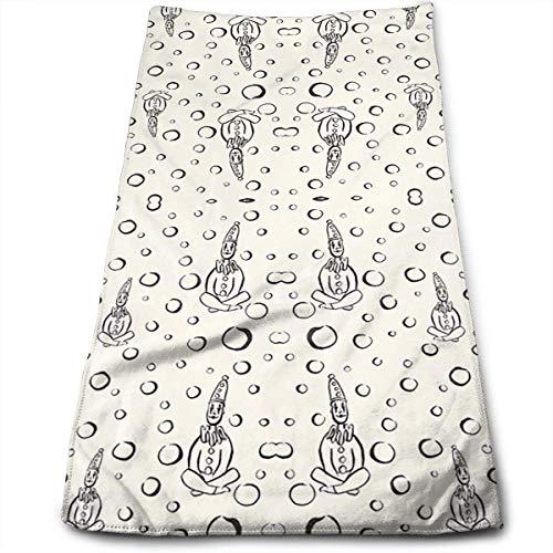 Hipiyoled Pierrot Clowns Meditate Superweiche, maschinenwaschbare und hochsaugfähige Handtücher Sonoma-bar Set