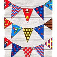 MARIO MADNESS BUNTING Children's Bedroom/Playroom decor