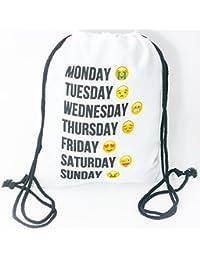 3438d3cc7d Premium WiFi Emoji 3d Print Hipster tasche Fine settimana Turn sacchetto  juta Sport tasche Stringbag Gym