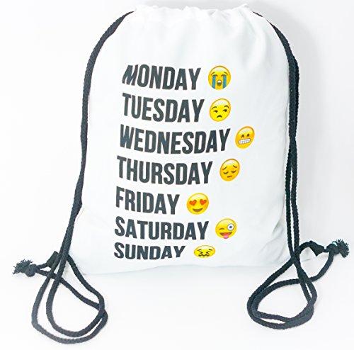 Premium Wifi Emoji 3D Print Hipstertasche Wochenende Turnbeutel Jutebeutel Sporttasche Stringbag Gym Bag Kordelsack Rucksack