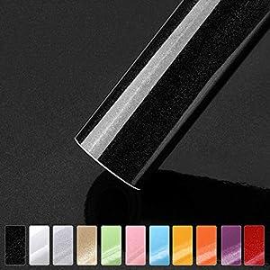 Türfolie Klebefolie Schwarz Möbelfolie Plotterfolie 0.61 * 5m glänzende mit Glitzer selbstklebe Folie Küchenschränke Aufkleber auf PVC Ihr Möbel zu renovieren