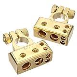 audew 1par 4/8AWG batería (Borne Terminal positivo y negativo battery Terminal Auto Pinzas para batería