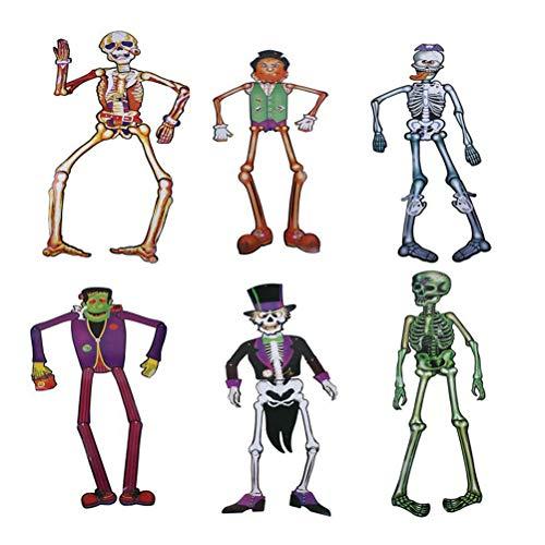 Amosfun Ghost Body Skeleton Design Kleiderbügel 1,4 mt Halloween DIY Papier Dekorationen Tür Wandbehang Ornamente Halloween Spielzeug (Halloween-dekorationen Für Diy Tür)