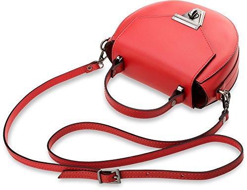 Damen - Handtasche Bowlingbag Naturleder Pastell