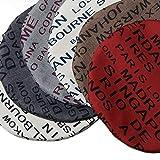 Möbelbär Kissen-Hülle Dekokissen Zier-Kissen Kissenbezug Sawanna City Struktur Stoff Metropole Stadt-Namen Schrift rund 60 cm Graphite