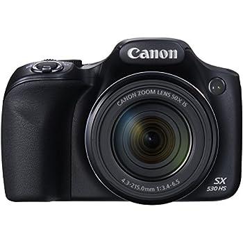 Canon PowerShot SX530 HS Fotocamera Compatta Digitale, 16 Megapixel, Nero/Antracite