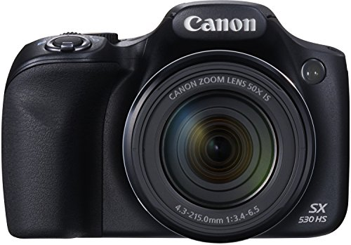 Canon PowerShot SX530 HS Digitalkamera (16,0 Megapixel CMOS, HS-System, 50-fach optisch, Zoom, 100-fach ZoomPlus, opt. Bildstabilisator, 7,5 cm (3 Zoll) Display, Full HD Movie, WLAN, NFC) schwarz