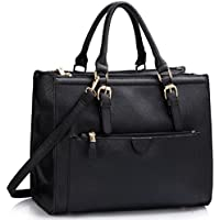 9231ddb6ad5 LeahWard Women s Large Size Handbags Quality Faux Leather Tote Shoulder Bags  A4 School LW366