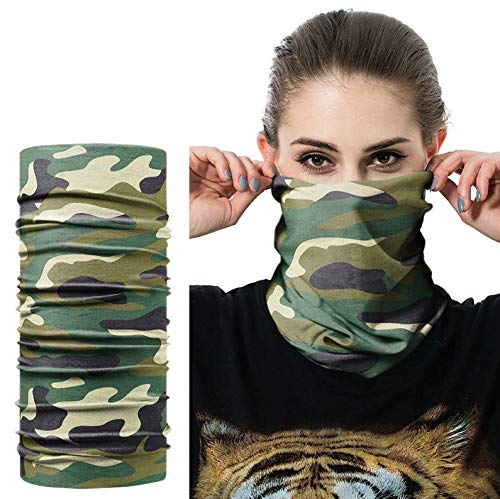 Patch Nation Tarnung Camo Bandana Quick Dry Mikrofaser Headwear Outdoor Magic Bandana Hals Snood Head Wrap Stirnband Schal Gesichtsmaske Ultra Soft Elastic Kopftuch (Multicam)
