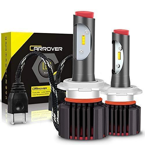 Lampadine H7 LED 9600LM, Kit Lampada Sostituzione per Alogena Lampade e Xenon Luci, Fari Abbaglianti o Anabbaglianti per Auto, 12V-24V, 6500K Bianco