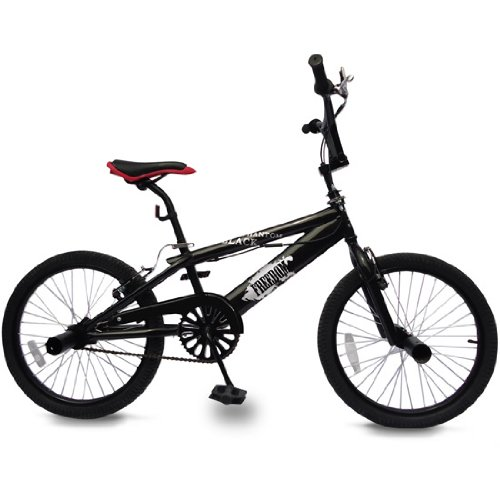 Bicicleta BMX| BlackPhantom con Ruedas de 20 Pulgadas, Cuadro de Acero, FrenosV-Brake, Rotación360°, con 4 Pegs, Negro | BMX Bikes, Bici Freestyle