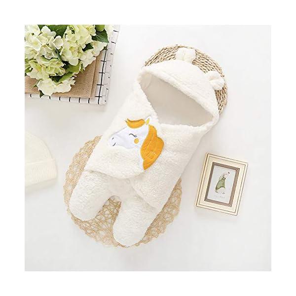 Mitlfuny Invierno Grueso Swaddle Wrap Cordero de Lana Saco de Dormir para Bebé Niños Manto Envolvente Recién Nacido…