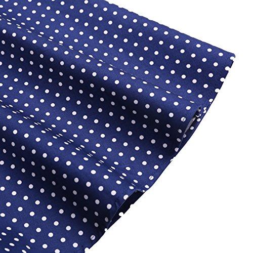 Dresstells Neckholder Rockabilly 50er Polka Dots Punkte 1950er Kleid Petticoat Faltenrock Navy White Dot M -