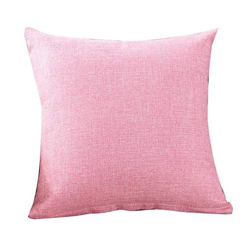 YI KUI Kissen- einfache Art und Weise Dekokissen Cases Cafe Sofa Kissenbezug Home Decor Geschenk Schlaf Spiele (Rosa, 40 * 40cm)