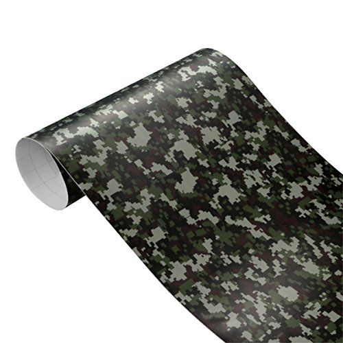 ECYC 30 cm * 100 cm Camouflage Vinyl PVC Auto Aufkleber Wrap FüR Auto Roller Motorrad Dekoration