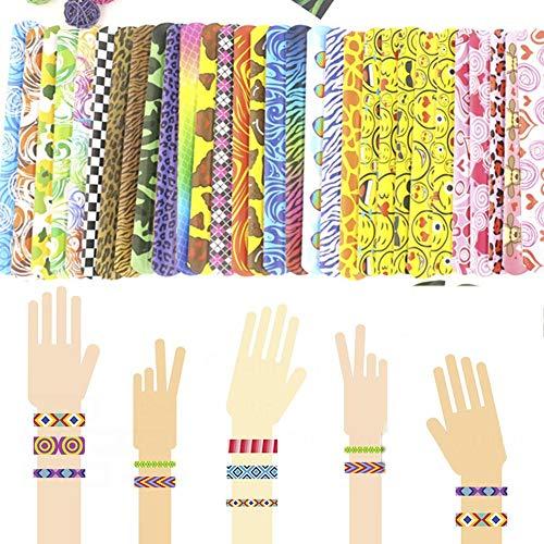 Party 30 Stücke Slap Armbänder Spielzeug Slap Bands Mit Bunten Herzen Emoji Animal Print Preise Design Slap Bands Für Jungen Und Mädchen Für Schule Geburtstag Goodie Bag ()