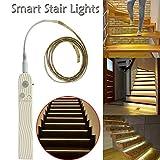 serliy Intelligente Treppenlichter schalten sich ein, wenn Sie auf sie gehen Nachtlicht Treppenlicht
