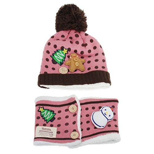 bambini-peluche-fodera-di-lana-berretto-beanie-sciarpa-set-inverno-caldo-morbido-knit-pom-beanie-cap