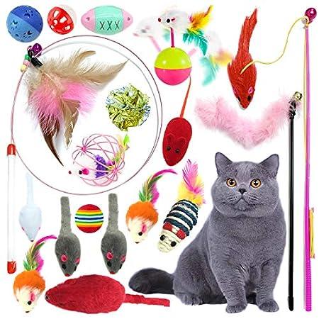 PietyPet Katzenspielzeug, Katze Toys Variety Pack, Spielzeug für Katzen Kitty 18 Stück
