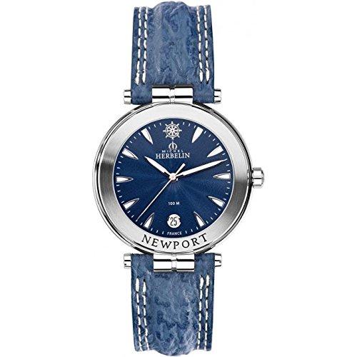Men's Watch–Michel Herbelin–Newport–Leather Strap–12255/35
