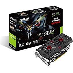 ASUS GeForce Strix-GTX1060-DC2O6GG OC Edition 6GB GDDR5 PCI-Express Graphics Card