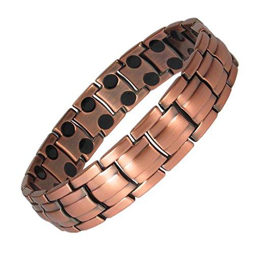 MPS® Kupfer reichen, Magnetische Armband mit Klappschließe, Leistungsstarke 3000 Gauß Magneten, Mit gratis geschenk beutel