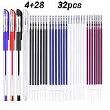 Rotuladores de tela borrables con 28 recargas Para Costura de Sastres, y Acolchado Confección, 4 colores...