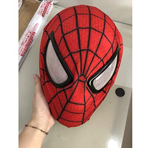 Superheld Made Kostüm Home - KYOKIM Spiderman Maske Halloween Mottoparty Helm Cosplay Karneva Kind Erwachsener Herren Held Vollen Kopf Deluxe Replik,Spiderman