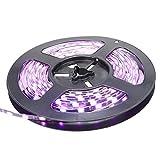 XKTTSUEERCRR 5M 5630 Super Schmal LED Strip 300 LEDs 4mm Breite Schwarz-PCB IP65 Wasserdicht Streifen LED Leiste (Pink)