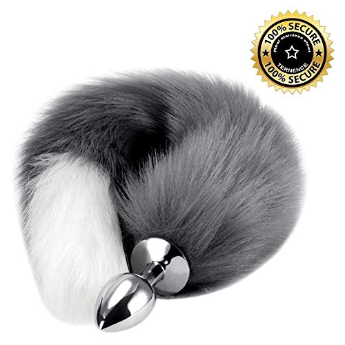 sex adults men Super Long and Fluffy Sunny Fox Tail Anale Cosplay Toy Anale Fox Tail Back Court Metal Fox Tail Plug Bdy Wand Masge
