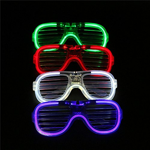 ARDUX LED Party Glasses  4Pcs lot Flashing Available Sunglasses Toy for Party Night Club Concert Holiday