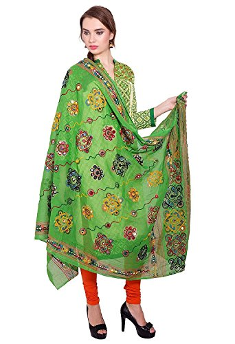 Dupatta / Stole Cotton for Women - Thread Embroidered Traditional Designer Aari...