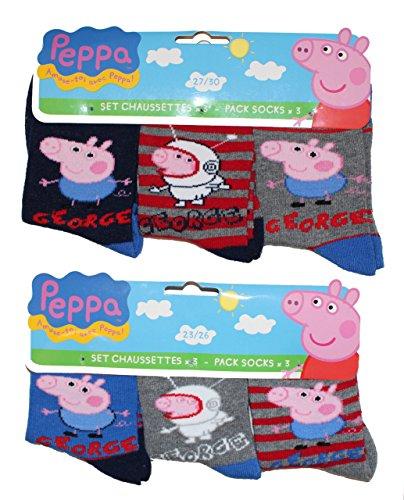 Peppa Pig Wutz -  Calze  - ragazzo multicolore 23/26
