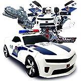 Kikioo RC Car Robot Giocattoli Trasformatore Robot Parete alla deriva Arrampicata auto 360 ° Rotante con funzione di deformazione a un pulsante Luci a LED RC Auto giocattolo per hobby Giocattoli Veico