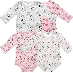 Pippi-Body-Ls-Ao-printed-4-pack-Body-para-Beb-Nios-Rosa-Ligthrose-74-cm
