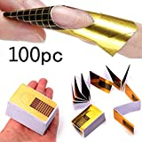 SMILEQ 100Pcs Nail Art Tips Extension Forms Guide French DIY Tool Acrylic UV Gel (B)